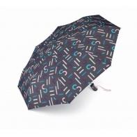 Mocna automatyczna parasolka Esprit, czarna w napisy