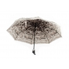 Automatyczna parasolka damska marki Parasol, czarna w kwiaty