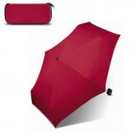 Lekka i super mała parasolka w praktyczny etui, bordowa