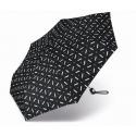 Automatyczna mocna parasolka Pierre Cardin, czarna we wzorki