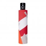 Parasolka damska automatyczna Doppler, czerwony wzór