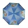 Automatyczna parasolka dziecięca z gwizdkiem, niebieska w kotki