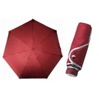 Ultra lekka mini parasolka damska 18 cm, bordowa