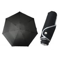 Ultra lekka mini parasolka damska 18 cm, czarna