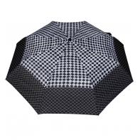 Wytrzymała automatyczna parasolka damska PARASOL, szachownica + kratka