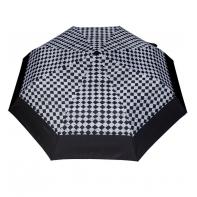 Wytrzymała automatyczna parasolka damska PARASOL, szachownica + lamówka