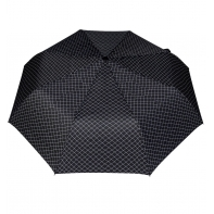 Wytrzymała automatyczna parasolka damska PARASOL, czarna w kratkę