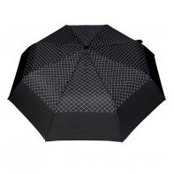 Wytrzymała automatyczna parasolka damska PARASOL, kratka + lamówka