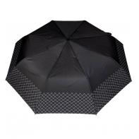 Wytrzymała automatyczna parasolka damska PARASOL, lamówka w kratkę