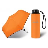 Kieszonkowa, ultra mini parasolka Happy Rain 16 cm, pomarańczowa