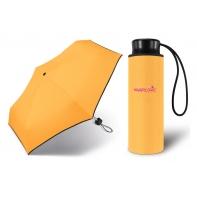 Kieszonkowa, ultra mini parasolka Happy Rain 16 cm, żółta