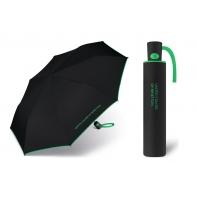 Automatyczna parasolka Benetton, czarna z lamówką