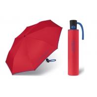 Automatyczna parasolka Benetton, czerwony z lamówką