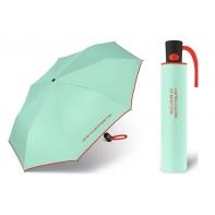 Automatyczna parasolka Benetton, miętowa z lamówką