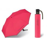 Automatyczna parasolka Benetton, czerwona z lamówką