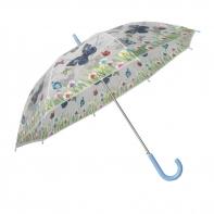 Automatyczna parasolka damska przezroczysta MOTYLE, niebieska