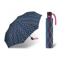 Automatyczna parasolka damska Benetton, granatowa we wzory