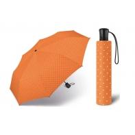 Automatyczna parasolka Happy Rain, pomarańczowa w groszki