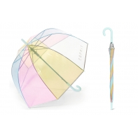 Głęboka parasolka Esprit - tęczowa + lamówka odblaskowa