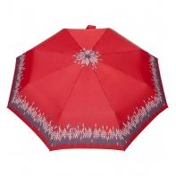 Automatyczna parasolka damska marki Parasol, czerwona z lamówką