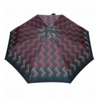 Automatyczna parasolka damska marki Parasol, kolorowe zygzaki