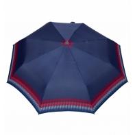 Automatyczna parasolka damska marki Parasol, granatowa w paseczki