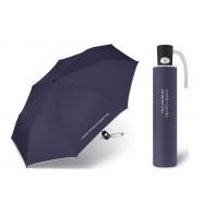 Automatyczna parasolka Benetton, granatowa z lamówką