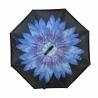"""Parasol odwrócony """"Revers"""" - niebiesko-fioletowy KWIAT"""