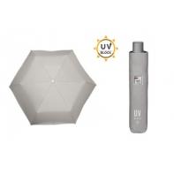 ULTRA lekka parasolka Perletti UV Block, SZARA