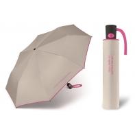 Automatyczna parasolka Benetton, szaro-różowa