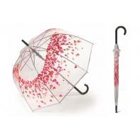Głęboka automatyczna parasolka Pierre Cardin przezroczysta w SERDUSZKA