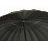 Wytrzymały parasol męski XL - 24-BRYTOWY, CZARNY