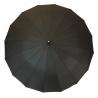 Mocny olbrzymi parasol męski XXL 130CM 16-drutowy, CZARNY