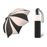 Automatyczna parasolka damska KWIAT Pierre Cardin CZARNO-BIAŁA