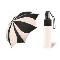 Automatyczna parasolka damska KWIAT Pierre Cardin BIAŁO-CZARNA
