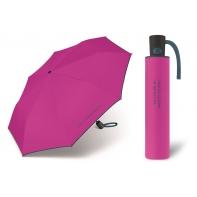 Automatyczna parasolka damska BENETTON, różowo-grafitowa