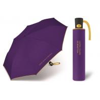 Automatyczna parasolka damska BENETTON, fioletowo-żółta