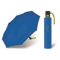 Automatyczna parasolka damska BENETTON, niebiesko-zielona