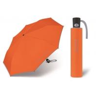 Automatyczna parasolka damska BENETTON, pomarańczowo-szara