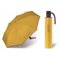 Automatyczna parasolka damska BENETTON, żółto-fioletowa
