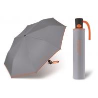 Automatyczna parasolka damska BENETTON, szaro-pomarańczowa