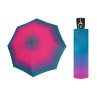 Mocna AUTOMATYCZNA damska parasolka Doppler, RÓŻOWO-NIEBIESKA