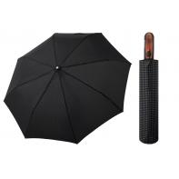Automatyczna MOCNA parasolka XXL Doppler 125 cm CZARNA W GWIAZDKI