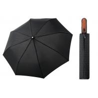 Automatyczna MOCNA parasolka XXL Doppler 125 cm CZARNA W ROMBY
