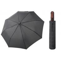 Automatyczna MOCNA parasolka XXL Doppler 125 cm CZARNA W KRATKĘ