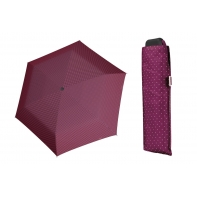 Wytrzymała PŁASKA parasolka Doppler Carbonsteel, BOROWA w paski