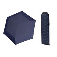 Wytrzymała PŁASKA parasolka Doppler Carbonsteel, GRANATOWA w paski