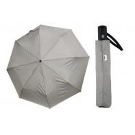 Mocna AUTOMATYCZNA parasolka Doppler Carbonsteel, szara w KROPKI