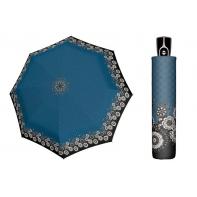 Wytrzymała AUTOMATYCZNA parasolka Doppler, NIEBIESKA W KWIATY