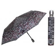 Automatyczna parasolka damska marki Parasol, szara w łezki